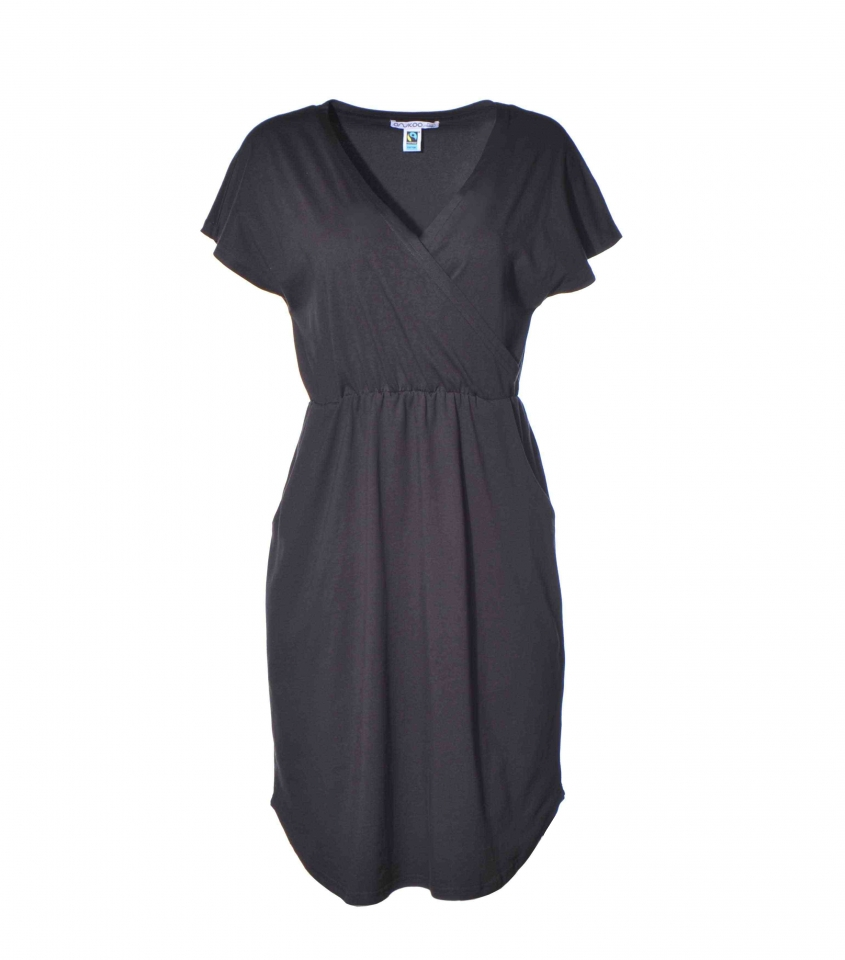 Kleid mit Taschen schwarz