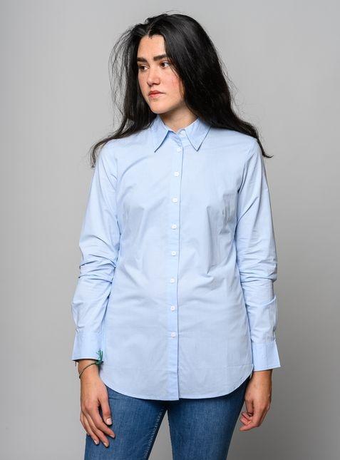 melawear Women Shirt Bluse light-blue