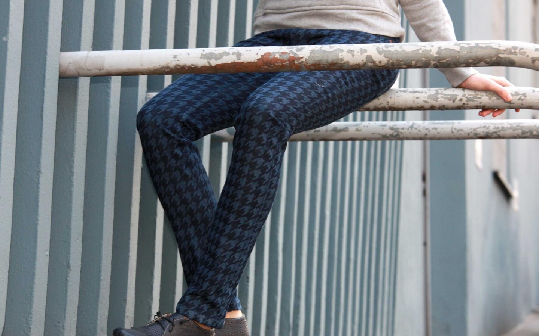 Feuervogl Damen-Jeans Svenja Pepita-Muster