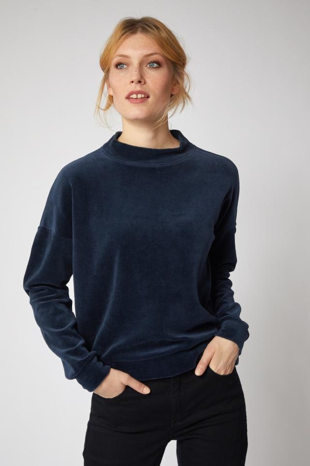 Nicki Langarmshirt GOTS night blue