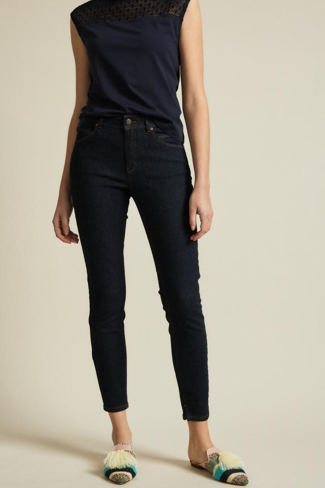 Lanius High-Waist Jeans GOTS dark blue