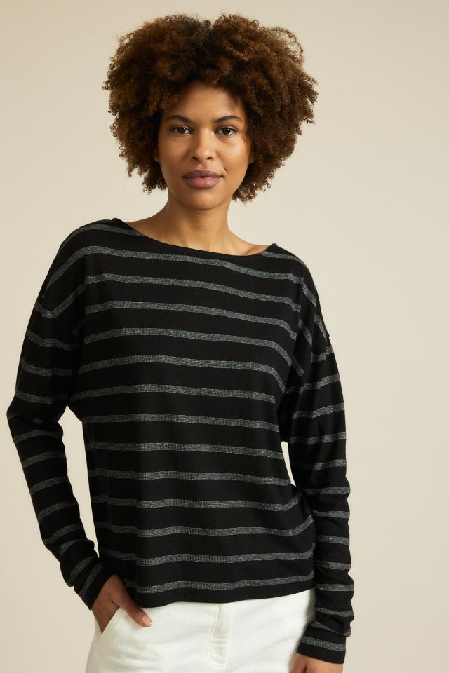 Fledermausshirt black off white