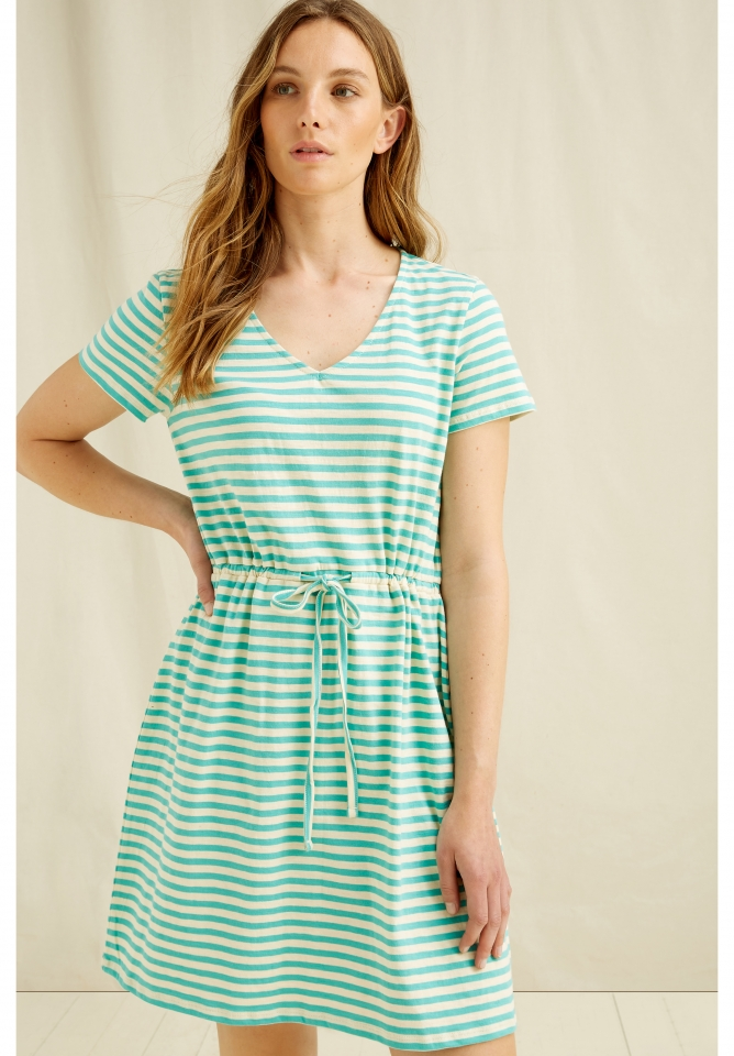 Ashby Stripe Dress green