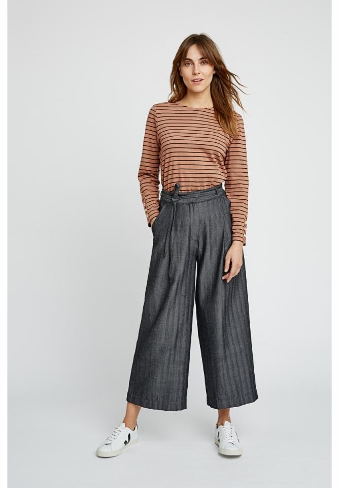 Tallulah Herringbone Trousers Hand Woven