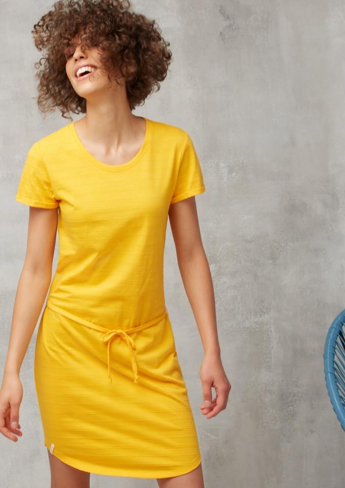 Jerseykleid Basic Jaquard sunshine