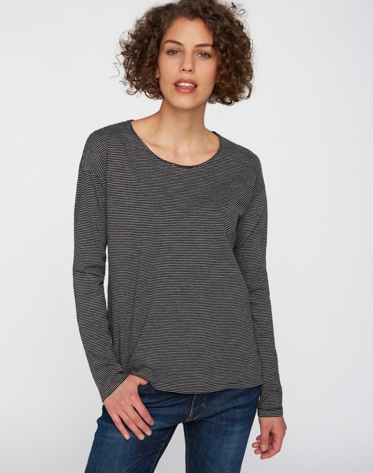 Longsleeve Casual Stripes black/grey