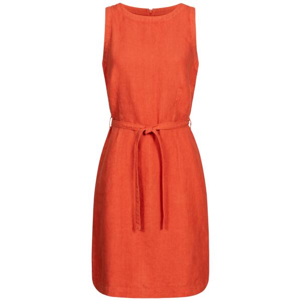Kim Linen Shirt Dress dark orange