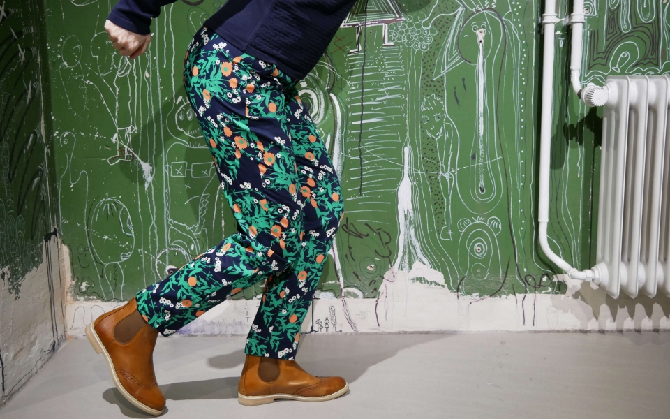 Claudia Marigold Print Trousers