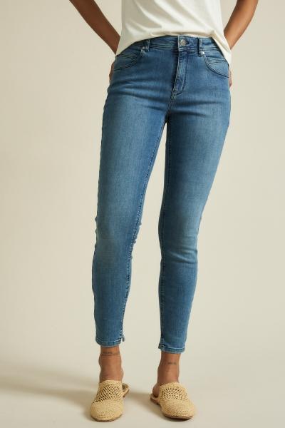 Lanius High-Waist Jeans GOTS blue denim