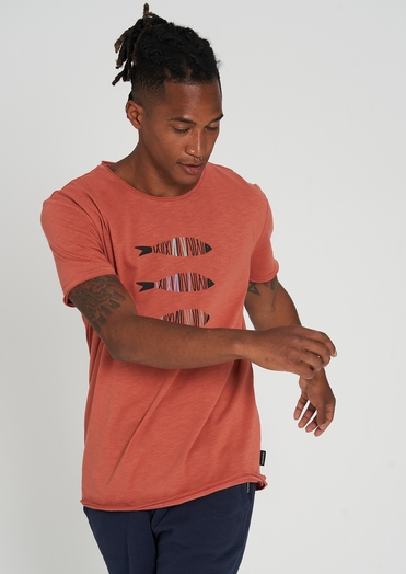 Casual T-Shirt 3Fishes summer orange Männer