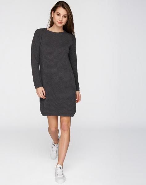 Knitted Dress Points anthra melange