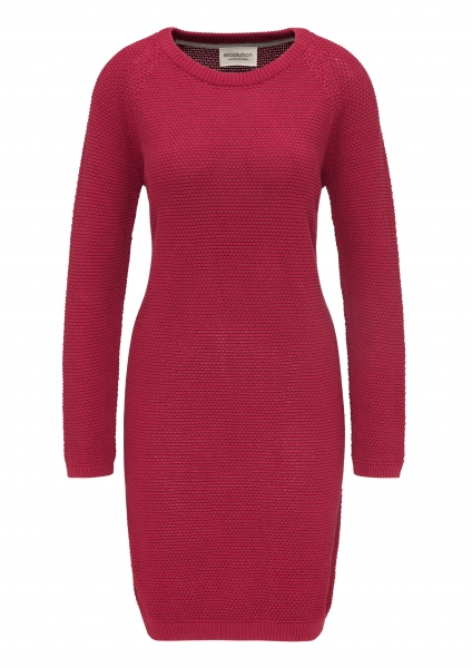 Frauen Raglan Knit Dress Points biking red