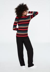 Käte Multicolor Stripes black-scarlet red