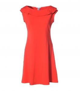 Kleid tailliert rot