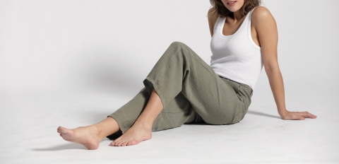 Mala Linen Jogpants light khaki
