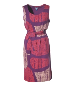 Strandkleid purple gemustert