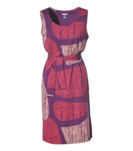 Strandkleid purple gemustert