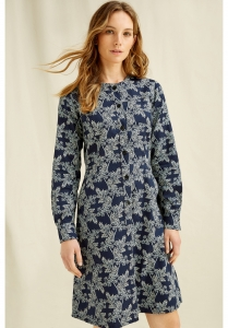 Kadisha Fennel Print dress  navy multi