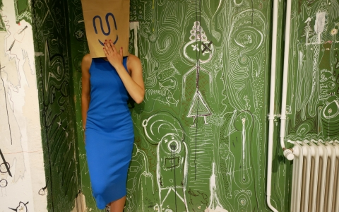 Kinsey Dress Blue