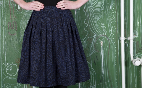 Selma Flared Skirt navy, People Tree Rock