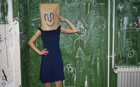 Kleid tailliert nachtblau