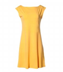 Kleid tailliert sonnengelb
