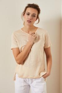 Shirt mit Schlitzen pearl