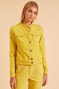 Jacke mit Struktur kiwi gold
