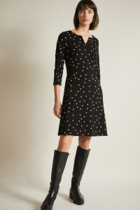 Etuikleid pretty dots black/off white