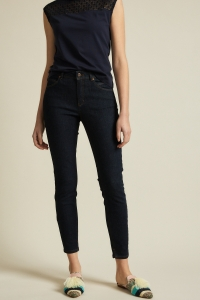 Lanius High-Waist Jeans GOTS dark blue
