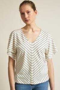 Streifenshirt GOTS cream/vintage indigo