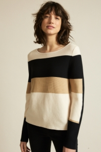 Pullover mit Colourblock GOTS powder/black
