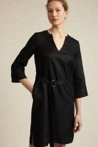Kleid mit Gürtel black