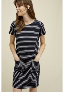 Phoebe Stripe Dress navy