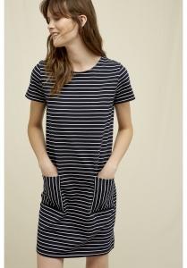 Phoebe Stripe Dress navy