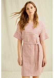 Christabel Stripe Dress red