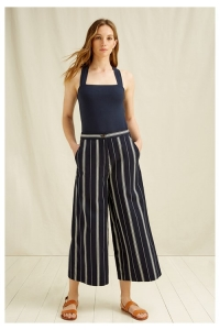 Shauna Stripe Trousers navy