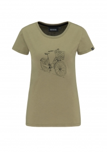 Frauen Basic T-Shirt Dutchbike olive