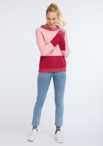 Frauen Knit Crew Neck Oversize rose/biking red
