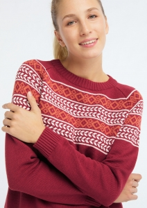 Knit Crew Neck Norwegian biking red